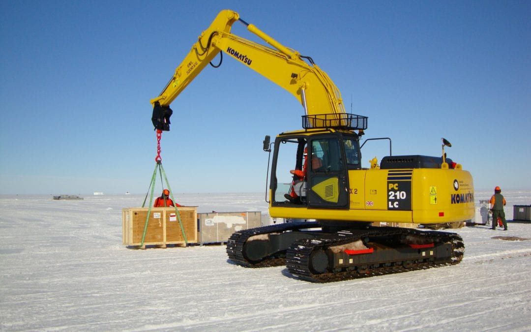 Packing, shipping and exporting to the Antarctica -Halley VI research centre.