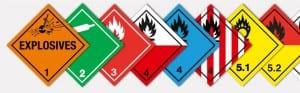 Dangerous Cargo signs