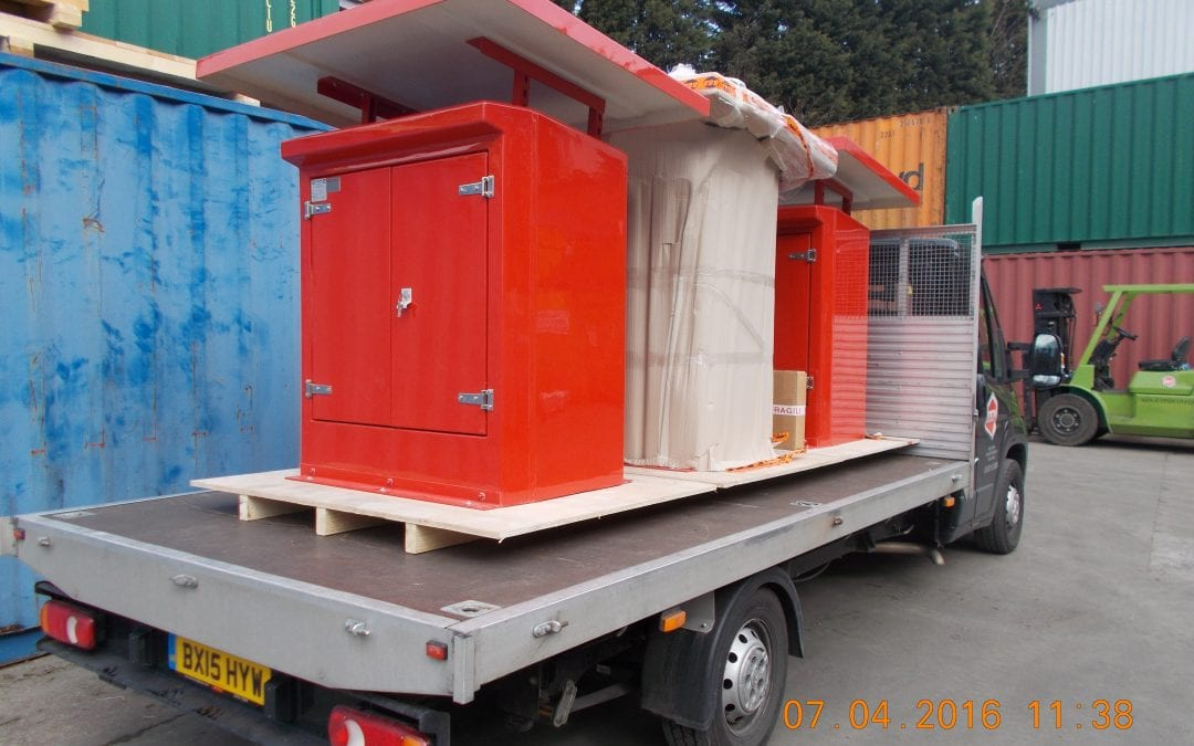 We collect items for packing from all over the country, in various sizes