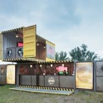 DJ stand Awesome ideas for recycling shipping containers
