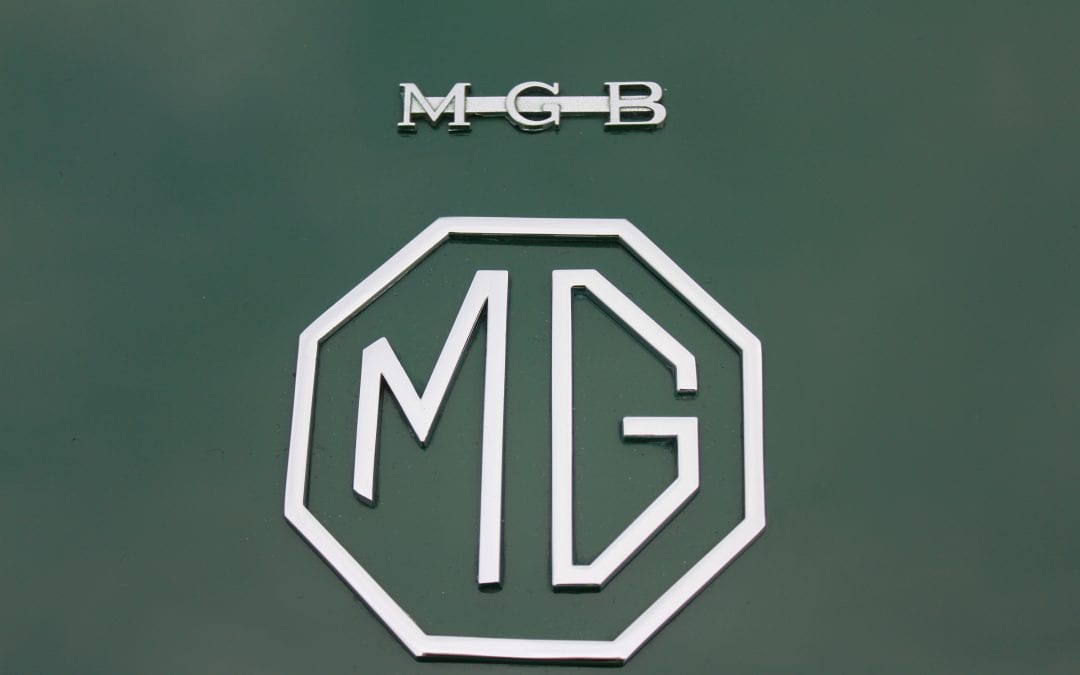 Shipping cars from England to China – MGB's  on display at MG HQ.