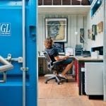 Repurposed Shipping Container - Home Office