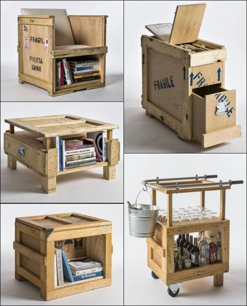 Anything is possible with a little imagination! Reduce, reuse and recycle shipping packaging.