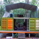 Home / water reservoir. Re-used shipping containers