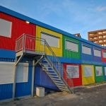 Schools - Re-purposed shipping containers.